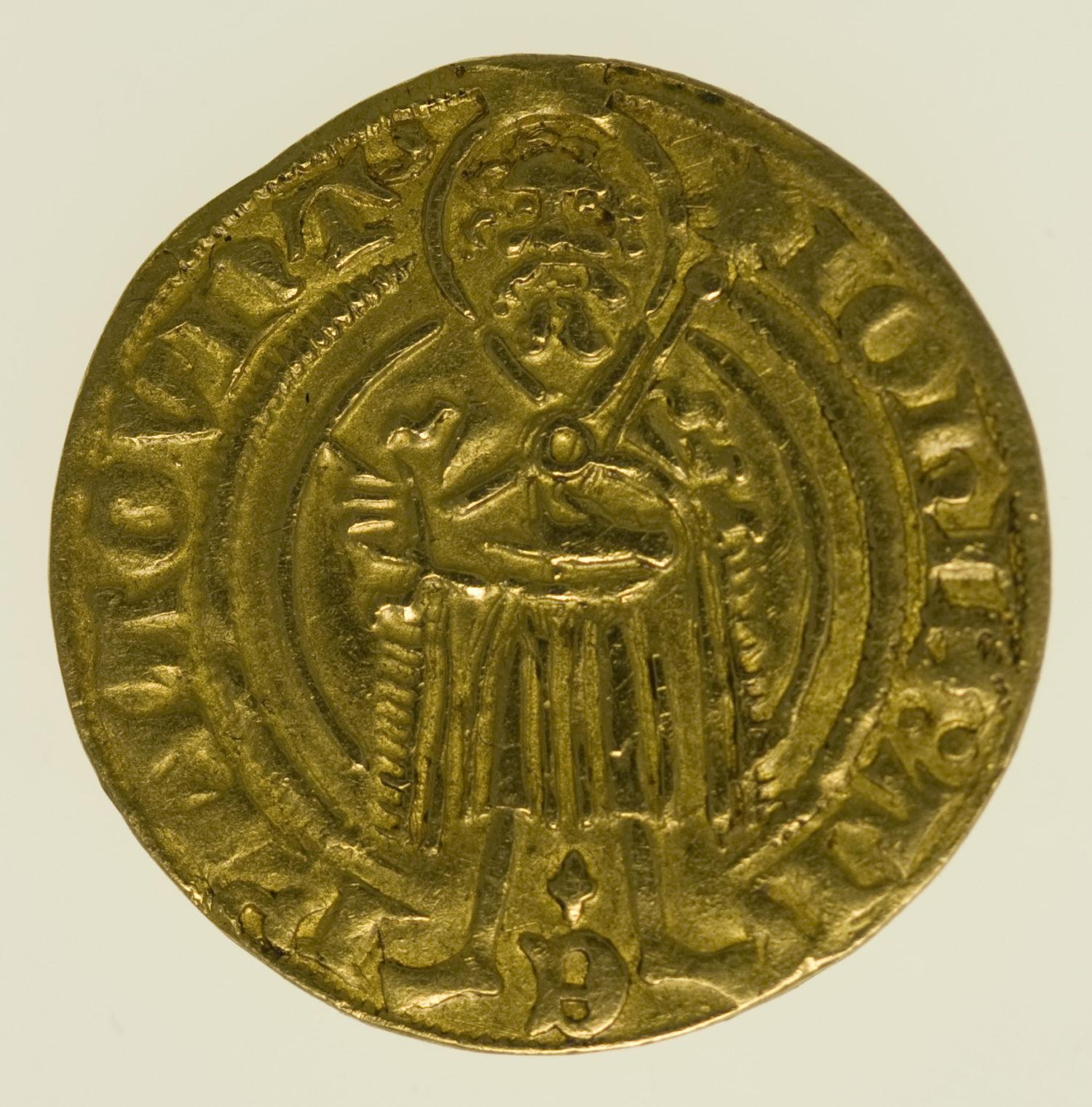 altdeutschland - Mainz Johann II. Goldgulden o.J.