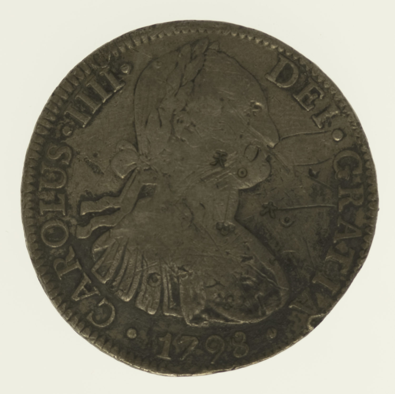 mexiko-silbermuenzen-uebrige-welt - Mexiko Karl IV. 8 Reales 1798