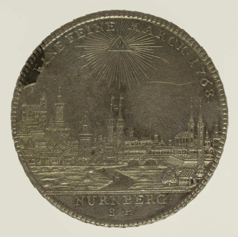 altdeutschland-deutsche-silbermuenzen - Nürnberg Stadt Taler 1768