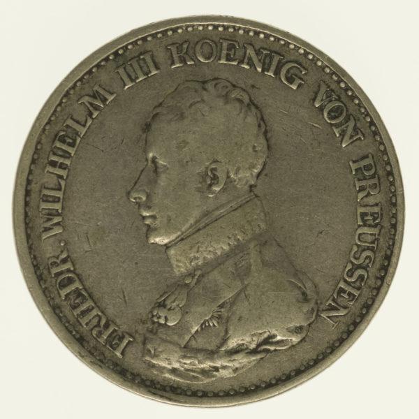 altdeutschland-deutsche-silbermuenzen - Preussen Friedrich Wilhelm III. Taler 1817