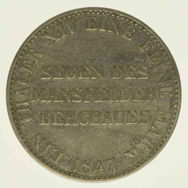altdeutschland-deutsche-silbermuenzen - Preussen Friedrich Wilhelm IV. Taler 1847