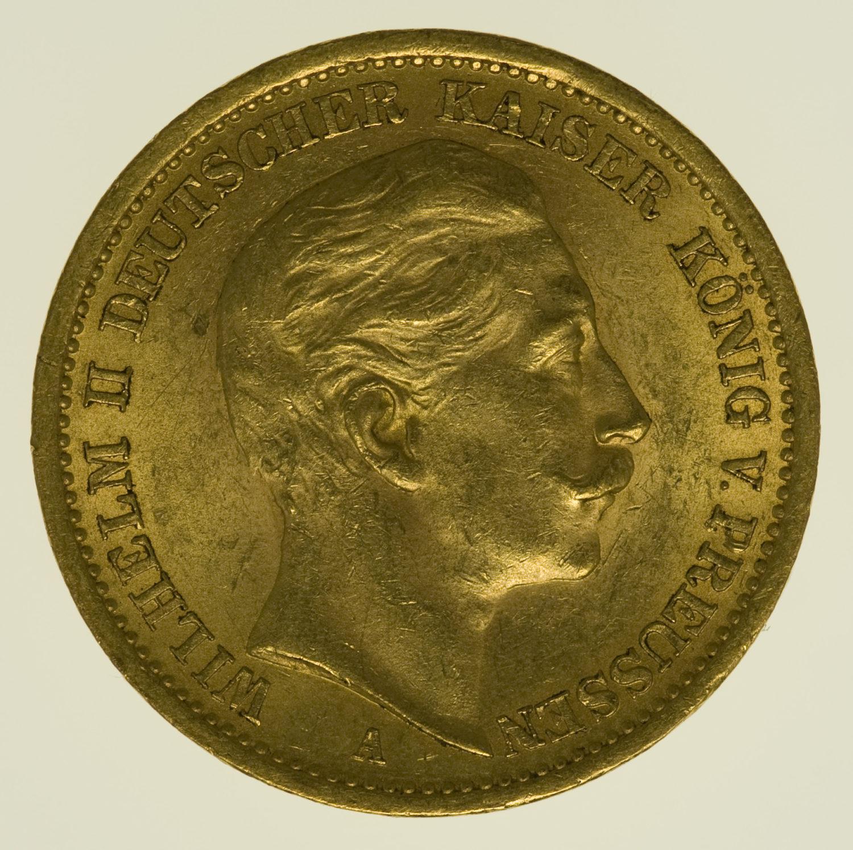 deutsches-kaiserreich-ab-1871 - Preussen Wilhelm II.20 Mark1907 A