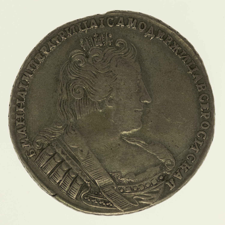 russland-silbermuenzen-uebriges-europa - Russland Anna Rubel 1733