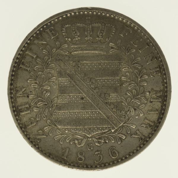 altdeutschland-deutsche-silbermuenzen - Sachsen Anton Taler 1836