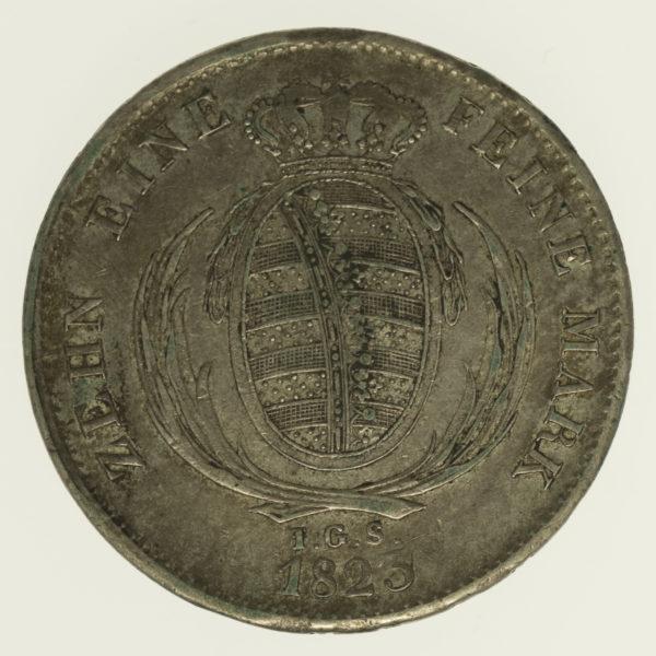 altdeutschland-deutsche-silbermuenzen - Sachsen Friedrich August I. Taler 1823