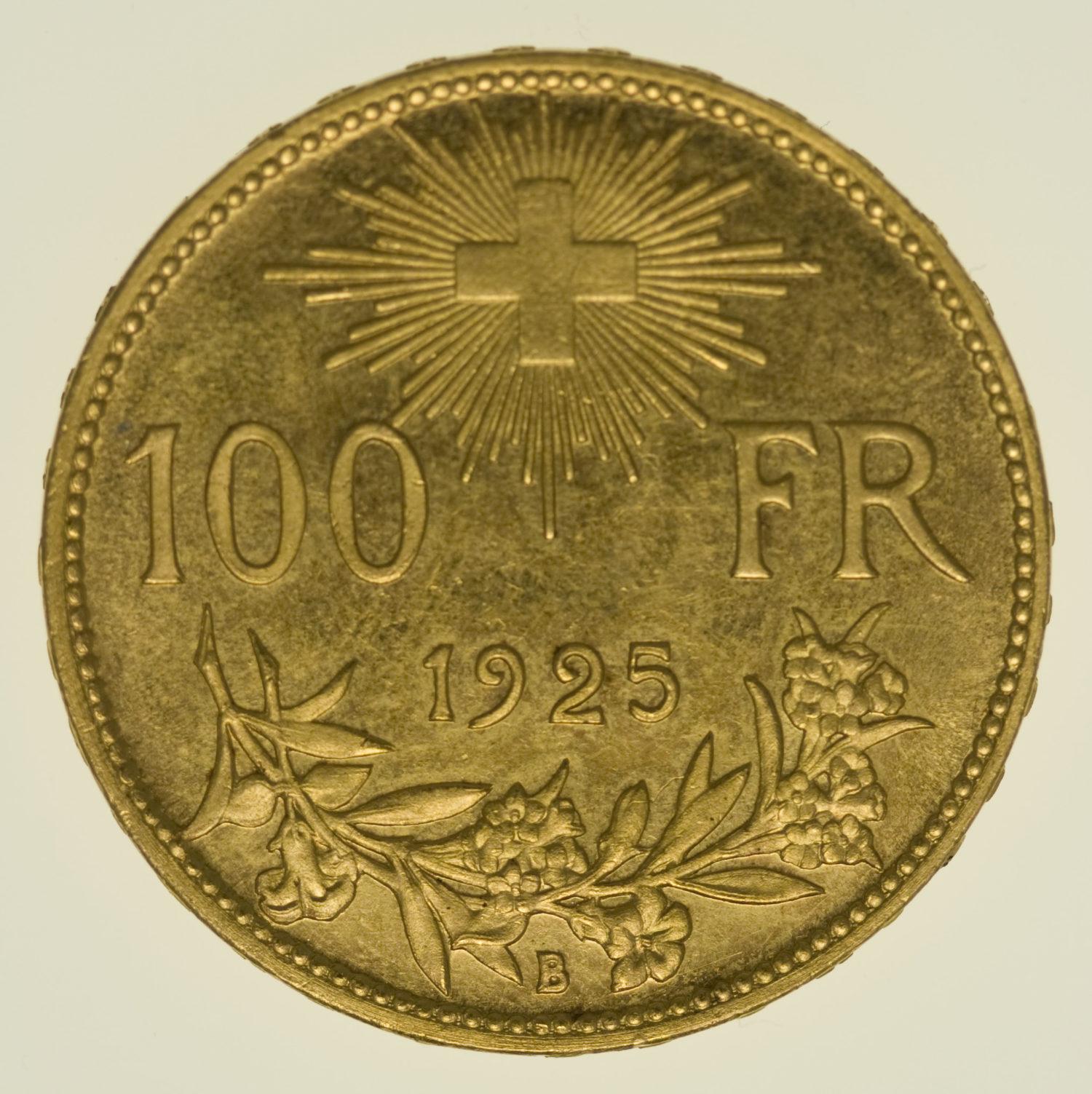 schweiz - Schweiz 100 Franken 1925 Vreneli