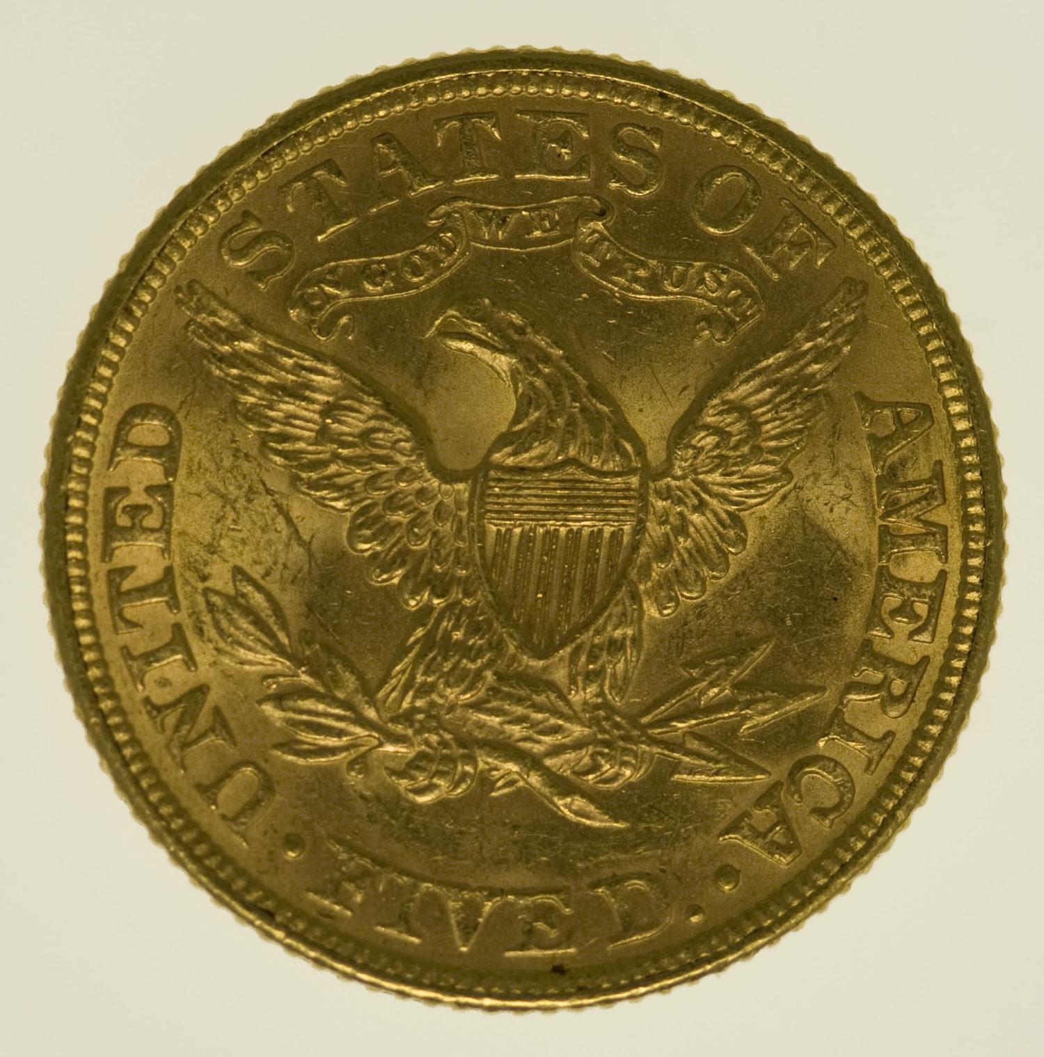usa - USA 5 Dollars 1884 Liberty / Kopf