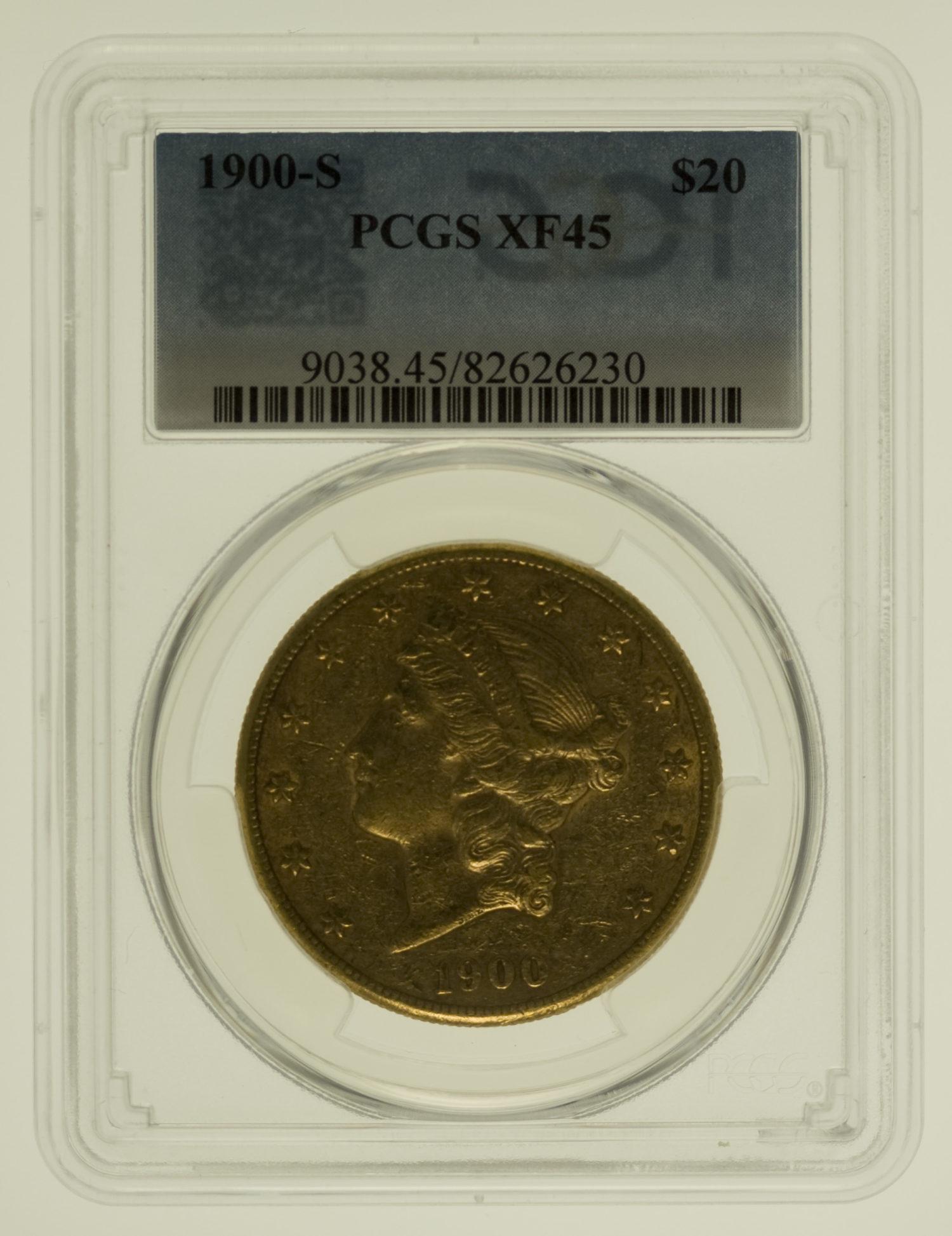 usa - USA 20 Dollars 1900 Liberty / Kopf