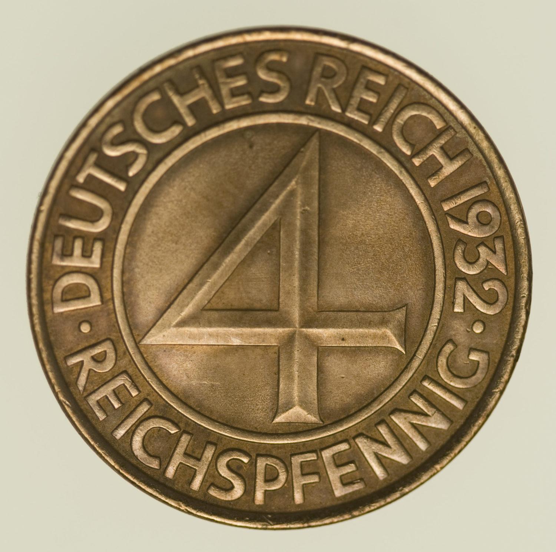 weimarer-republik-deutsche-silbermuenzen - 4 Reichspfennig 1932 A