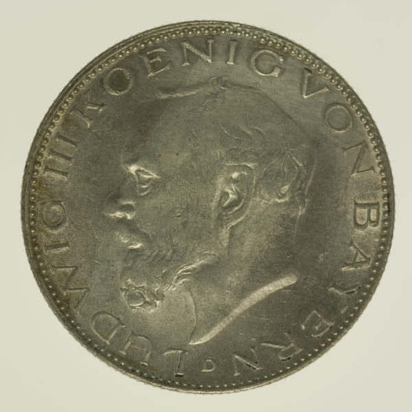 deutsches-kaiserreich-ab-1871-deutsche-silbermuenzen - Bayern Ludwig III. 2 Mark 1914