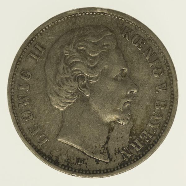 deutsches-kaiserreich-ab-1871-deutsche-silbermuenzen - Bayern Ludwig II. 5 Mark 1875
