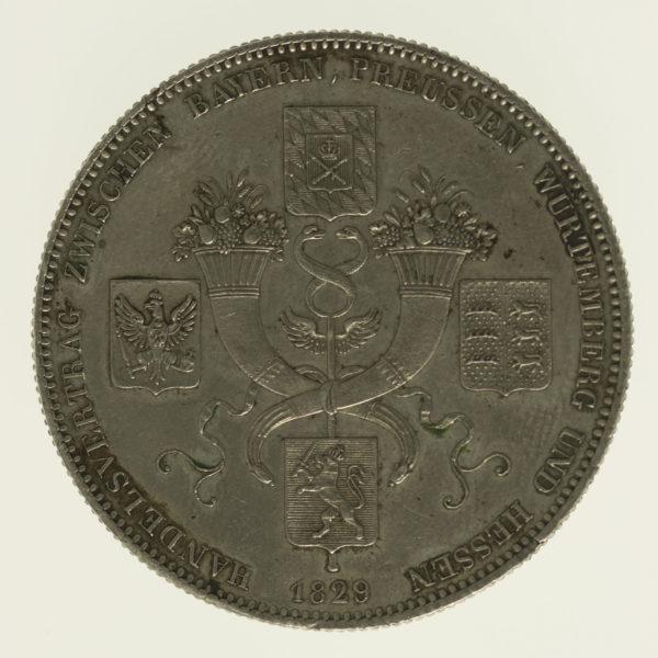 altdeutschland-deutsche-silbermuenzen - Bayern Ludwig I. Taler 1829
