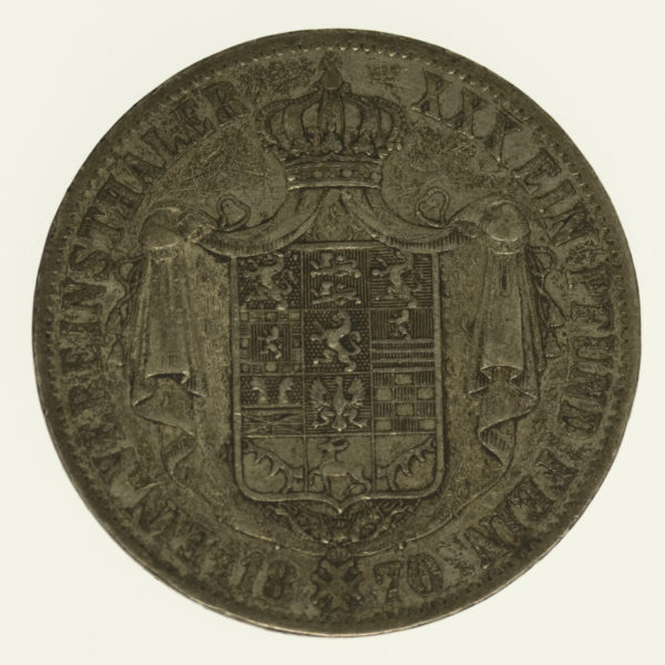 altdeutschland-deutsche-silbermuenzen - Braunschweig Wolfenbüttel Wilhelm Vereinstaler 1870