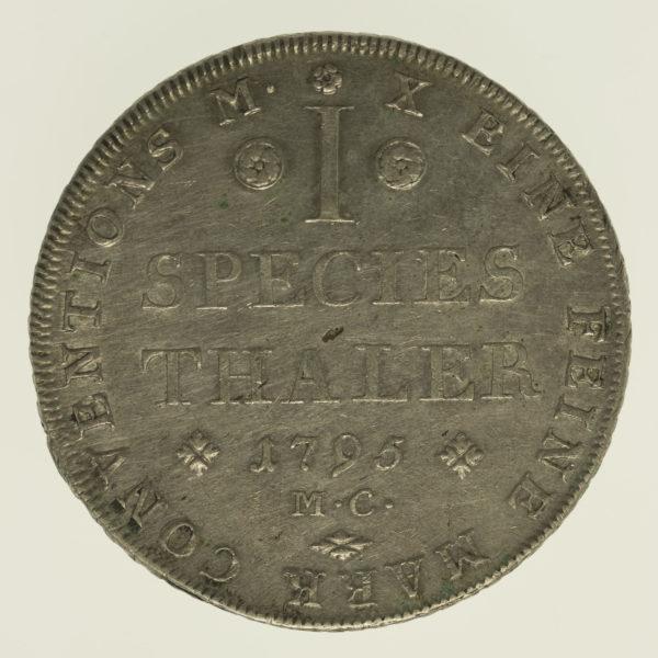 altdeutschland-deutsche-silbermuenzen - Braunschweig Wolfenbüttel Karl Wilhelm Ferdinand Taler 1795