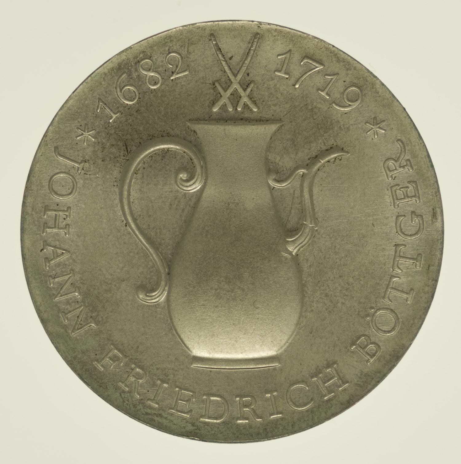 ddr-deutsche-silbermuenzen - DDR 10 Mark 1969 Böttger