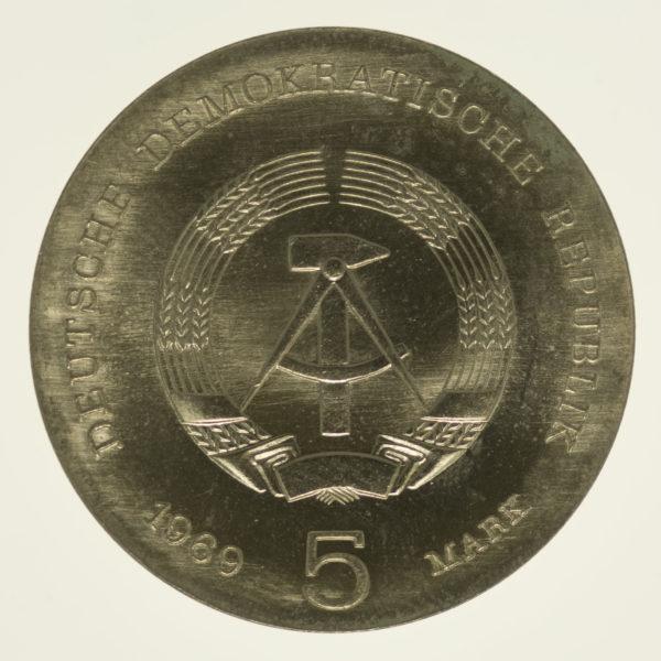 ddr-deutsche-silbermuenzen - DDR 5 Mark 1969 Hertz