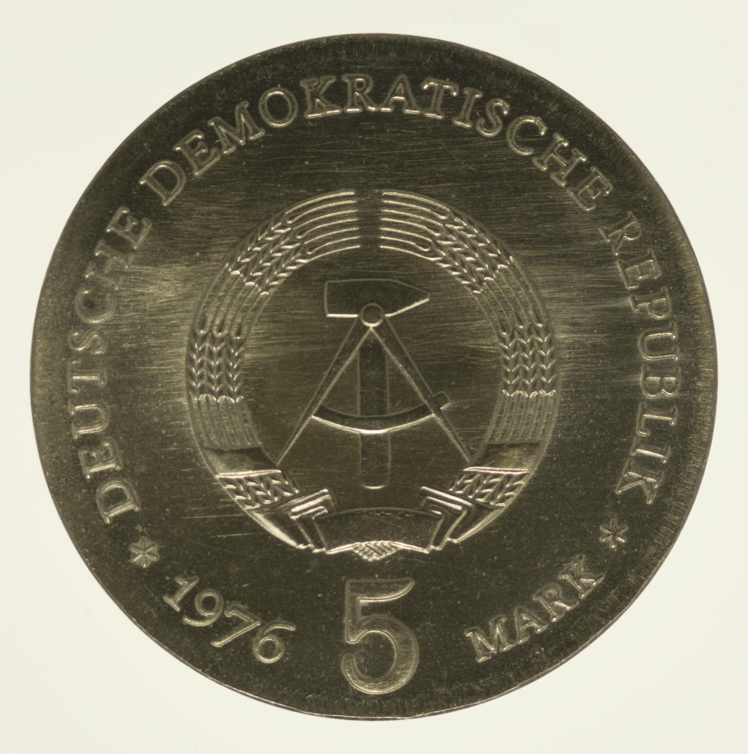ddr-deutsche-silbermuenzen - DDR 5 Mark 1976 von Schill