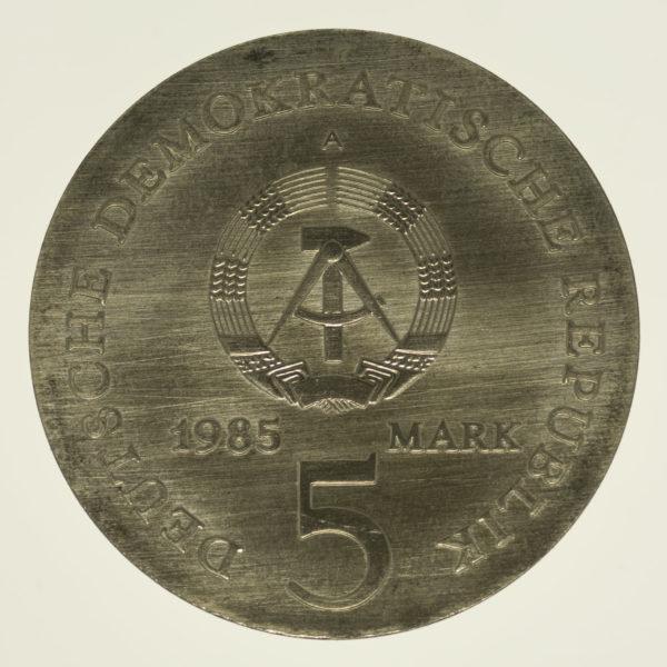 ddr-deutsche-silbermuenzen - DDR 5 Mark 1985 Neuber