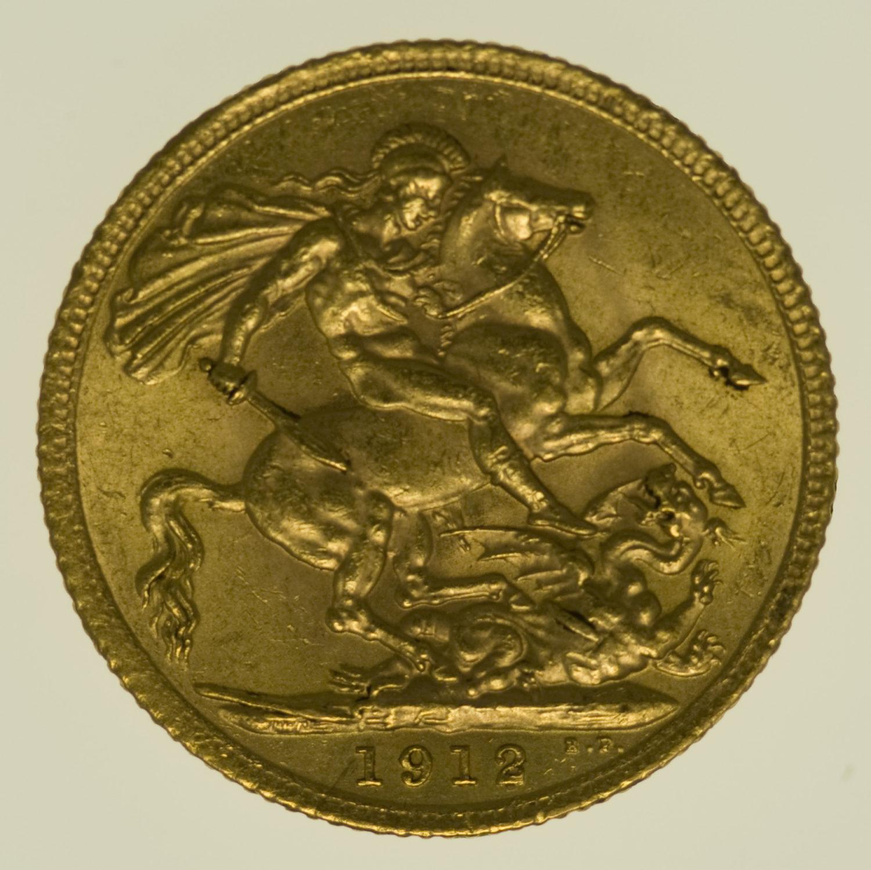 grossbritannien - Großbritannien Georg V. Sovereign 1912