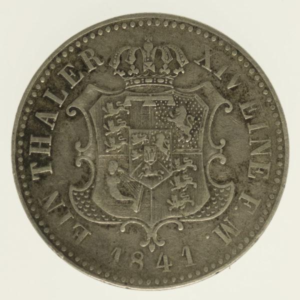altdeutschland-deutsche-silbermuenzen - Hannover Ernst August Taler 1841