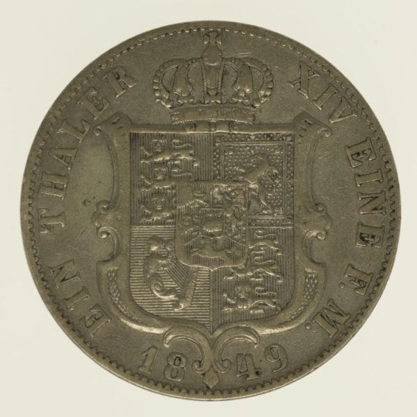 altdeutschland-deutsche-silbermuenzen - Hannover Ernst August Taler 1849