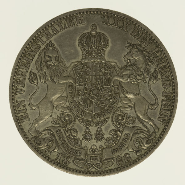 altdeutschland-deutsche-silbermuenzen - Hannover Georg V. Vereinstaler 1866