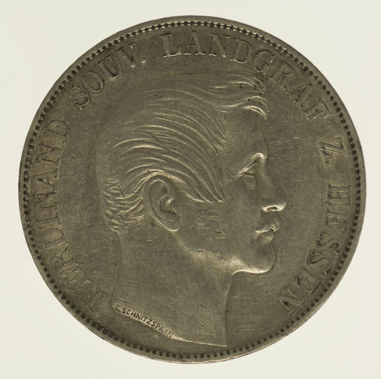 altdeutschland-deutsche-silbermuenzen - Hessen Ferdinand Vereinstaler 1858
