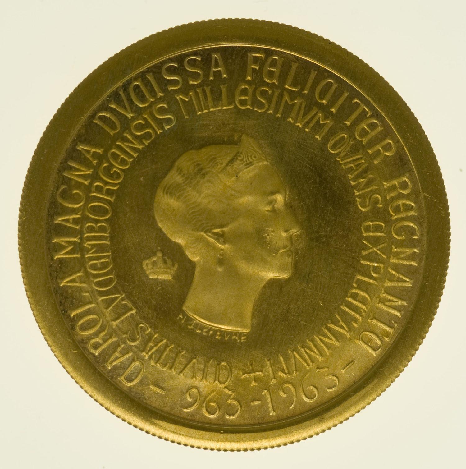 luxemburg - Luxemburg Charlotte Goldmedaille 1963