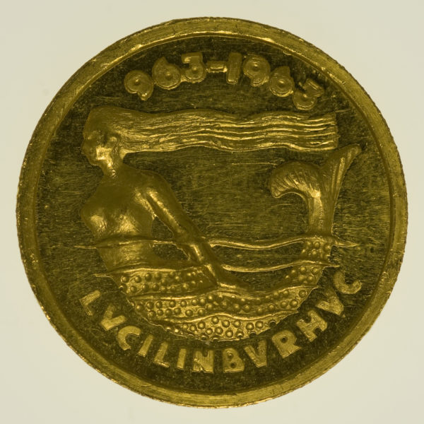 luxemburg - Luxemburg Goldmedaille 1963