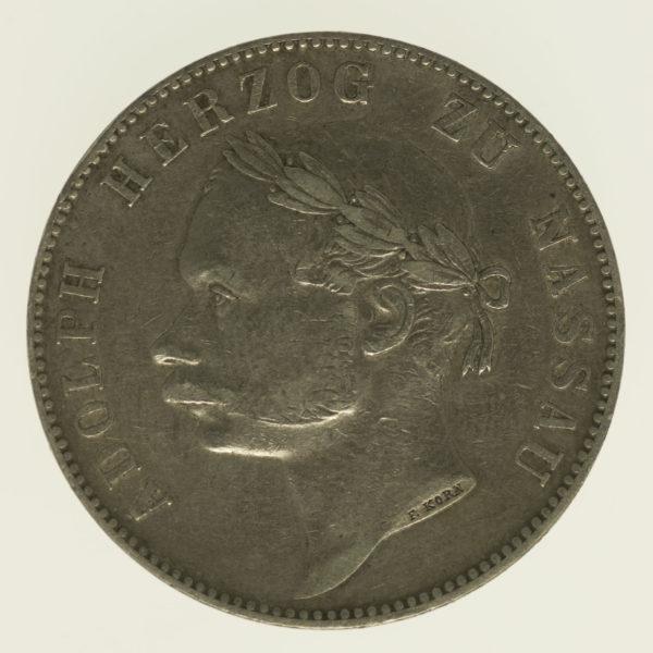 altdeutschland-deutsche-silbermuenzen - Nassau Adolph Taler 1864