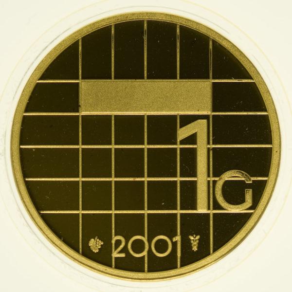 niederlande - Niederlande Beatrix 1 Gulden 2001
