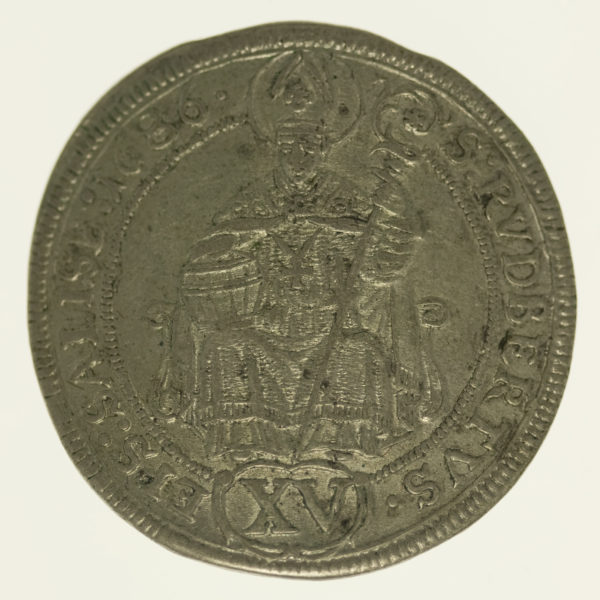 oesterreich-silbermuenzen-uebriges-europa - Österreich Salzburg 15 Kreuzer 1686