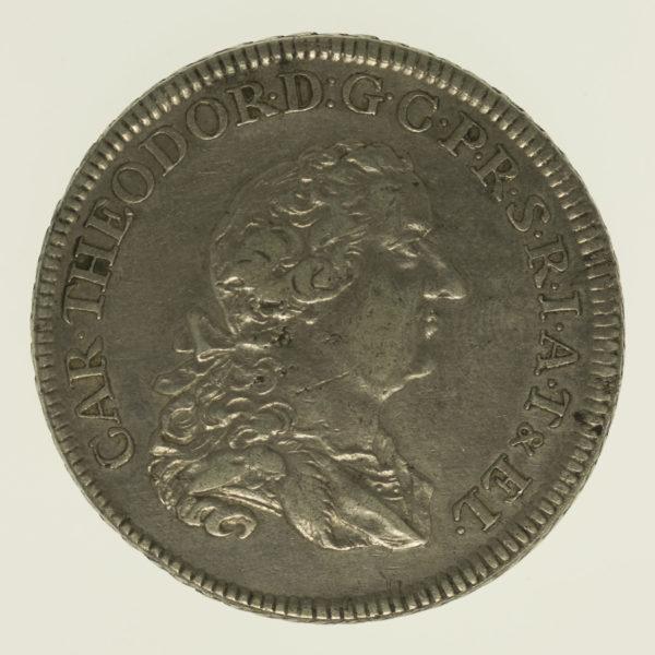altdeutschland-deutsche-silbermuenzen - Pfalz Sulzbach Karl Theodor Taler 1770