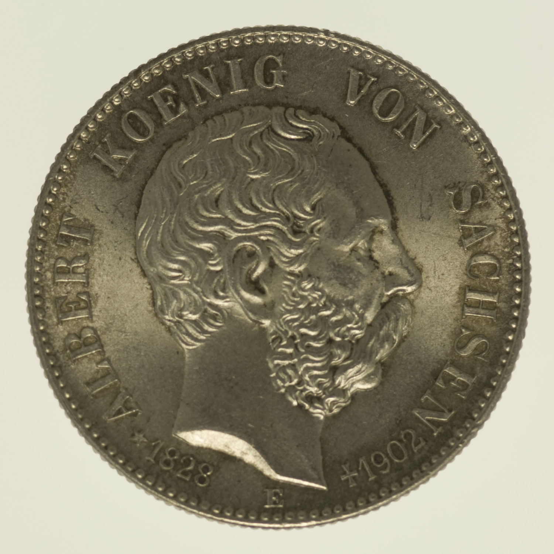 deutsches-kaiserreich-ab-1871-deutsche-silbermuenzen - Sachsen Albert 2 Mark 1902