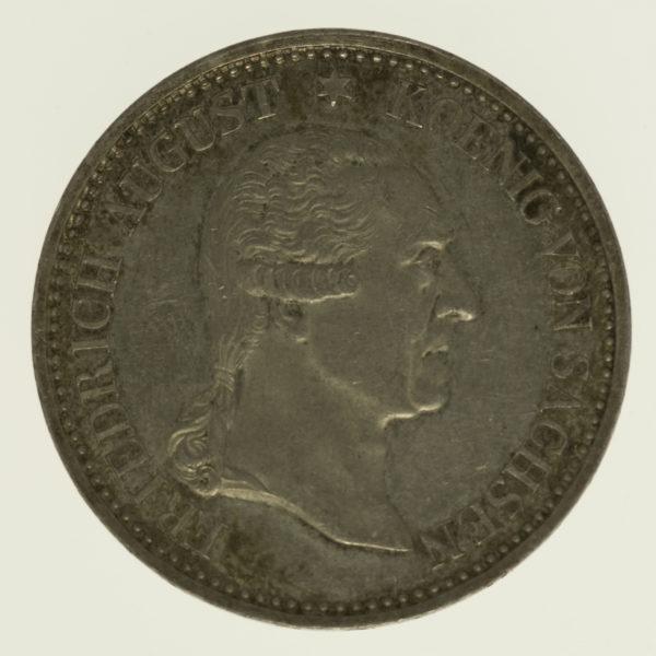 altdeutschland-deutsche-silbermuenzen - Sachsen Friedrich August I. Taler 1827