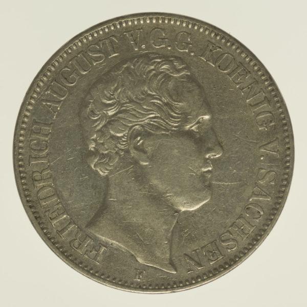 altdeutschland-deutsche-silbermuenzen - Sachsen Friedrich August II. Taler 1848