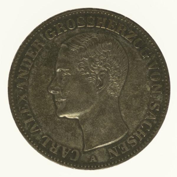 altdeutschland-deutsche-silbermuenzen - Sachsen Weimar Eisenach Carl Alexander Vereinstaler 1870