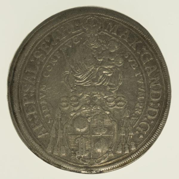 oesterreich-silbermuenzen-uebriges-europa - Österreich Salzburg Max Gandolph Taler 1668