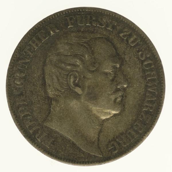 altdeutschland-deutsche-silbermuenzen - Schwarzburg Rudolstadt Friedrich Günther Vereinstaler 1859
