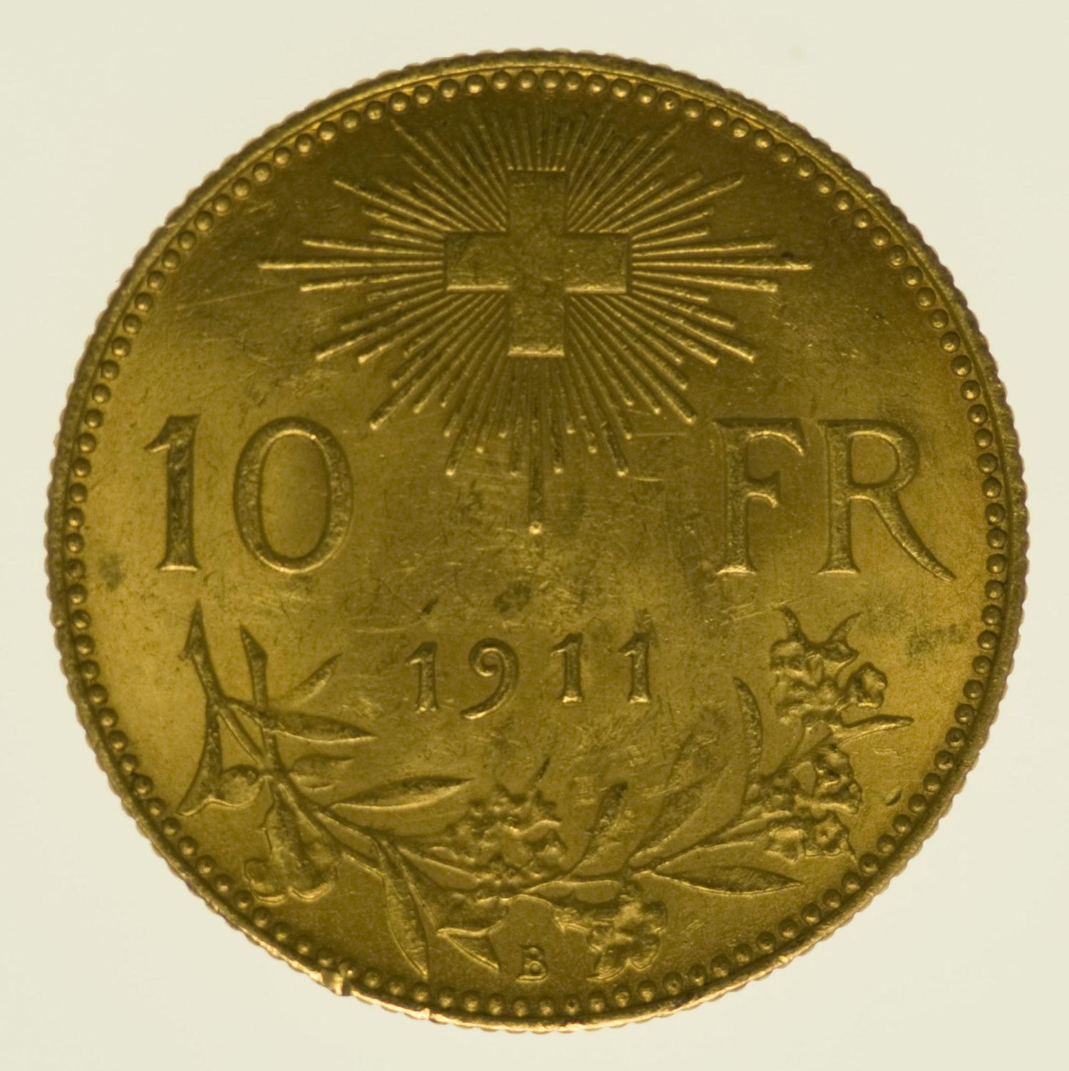 schweiz - Schweiz 10 Franken 1911 Vreneli