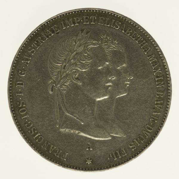 oesterreich-silbermuenzen-uebriges-europa - Österreich Kaiserreich Franz Josef I. Gulden 1854