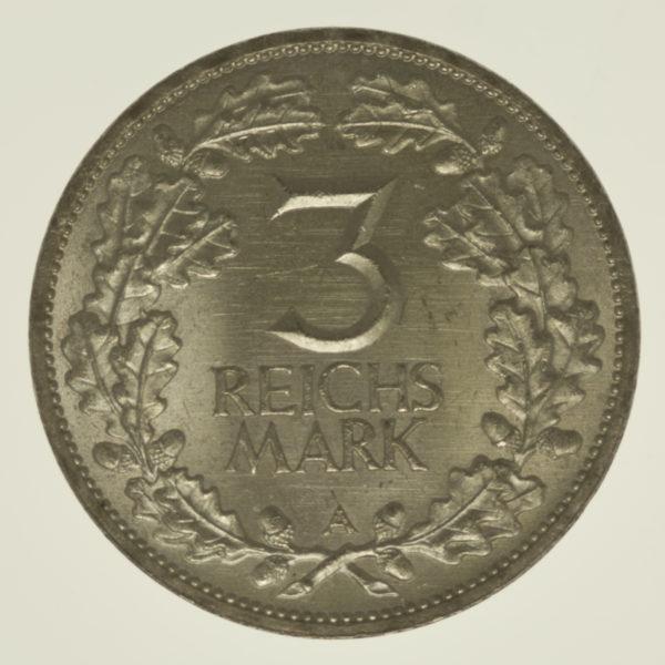 weimarer-republik-deutsche-silbermuenzen - Weimarer Republik 3 Reichsmark 1925 Rheinlande