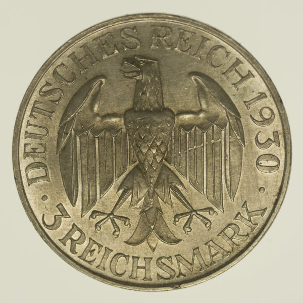 weimarer-republik-deutsche-silbermuenzen - Weimarer Republik 3 Reichsmark 1930 Zeppelin