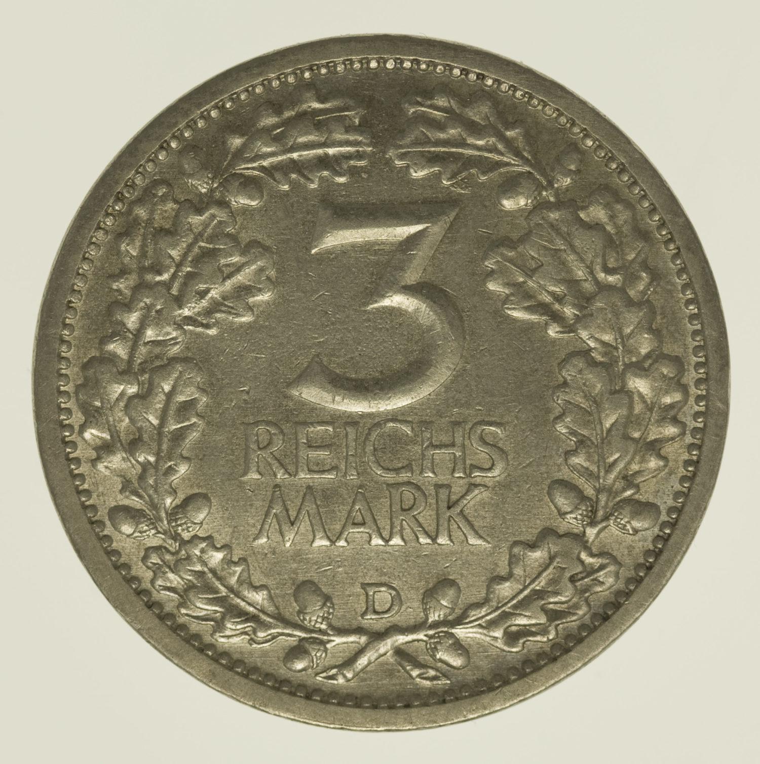 weimarer-republik-deutsche-silbermuenzen - Weimarer Republik 3 Reichsmark 1931