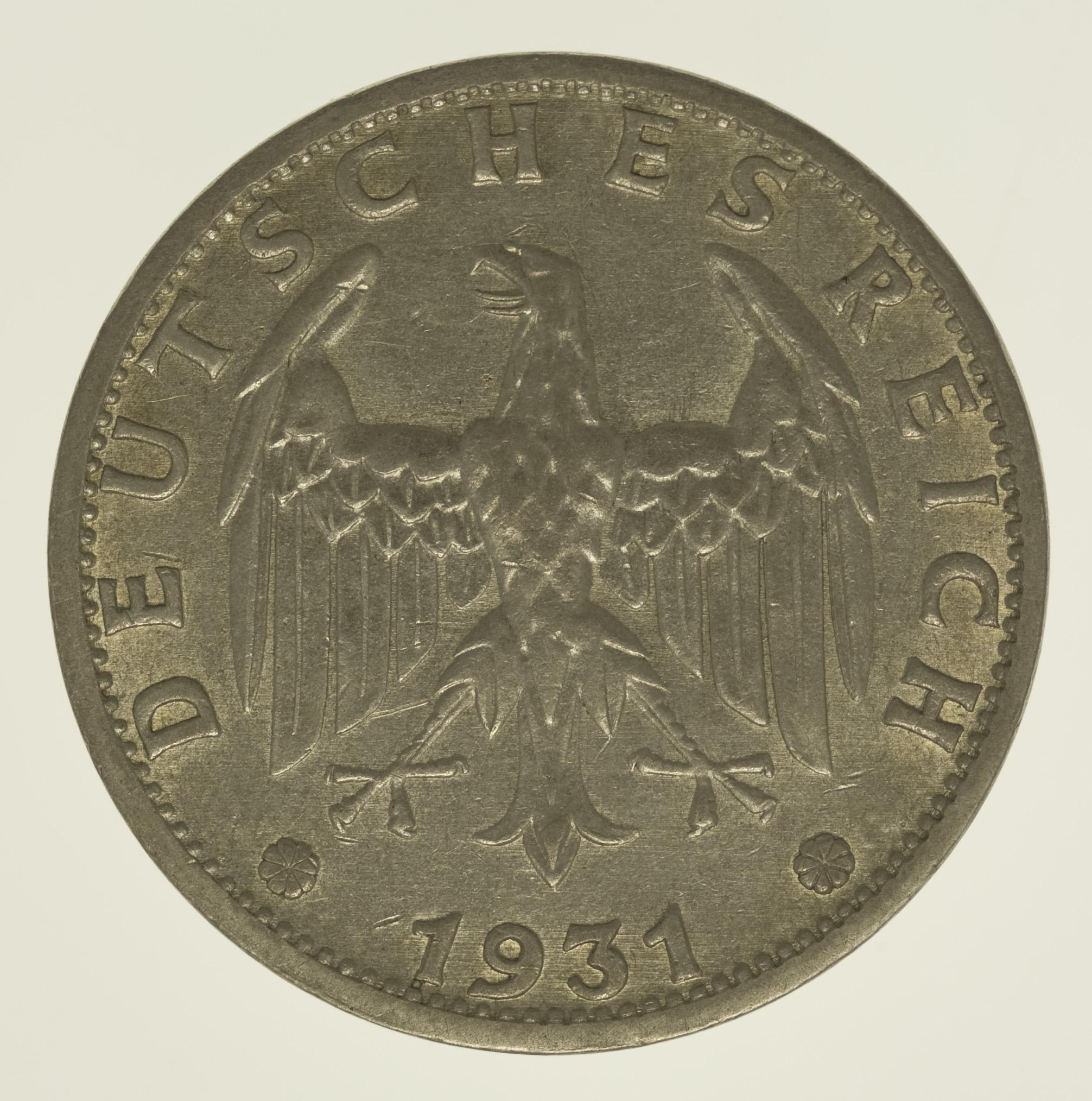 Weimarer Republik 3 Reichsmark 1931 Pro Aurum Numismatik