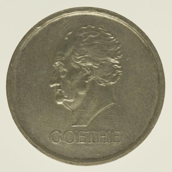 weimarer-republik-deutsche-silbermuenzen - Weimarer Republik 3 Reichsmark 1932 Goethe