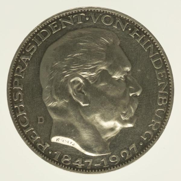 weimarer-republik-deutsche-silbermuenzen - Weimarer Republik Silbermedaille 1927