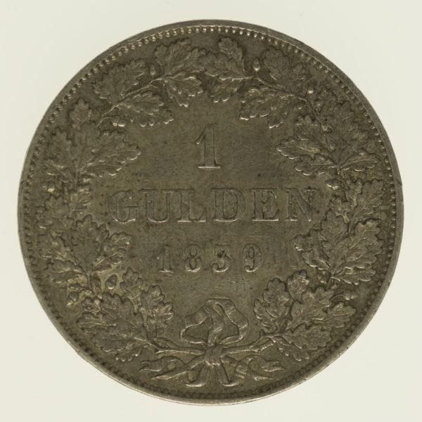altdeutschland-deutsche-silbermuenzen - Bayern Ludwig I. 1 Gulden 1839