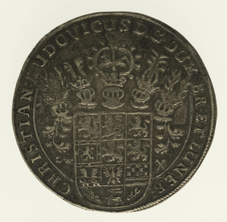 altdeutschland-deutsche-silbermuenzen - Braunschweig Lüneburg Celle Christian Ludwig Taler 1665
