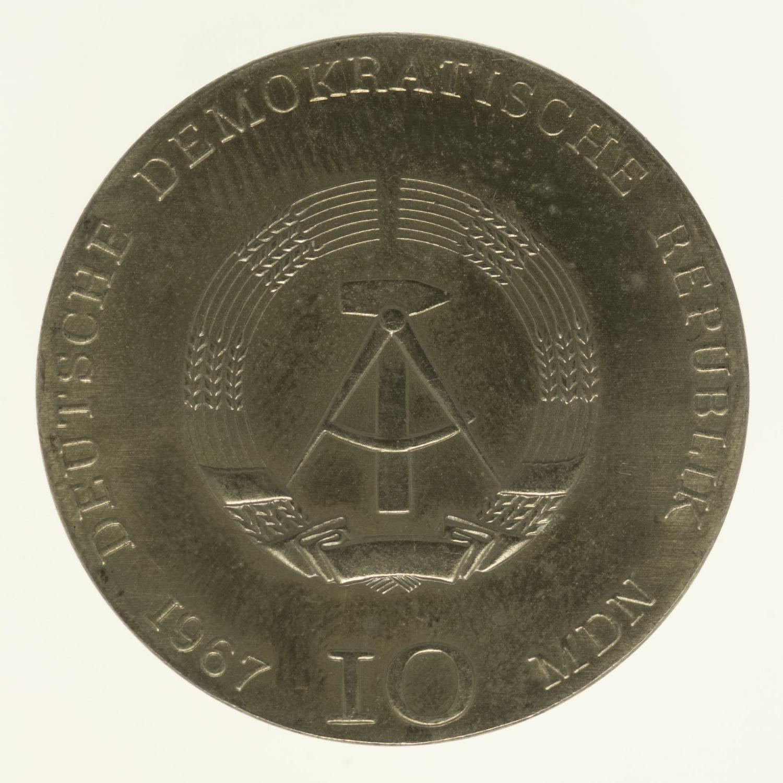 ddr-deutsche-silbermuenzen - DDR 10 Mark 1967 Kollwitz